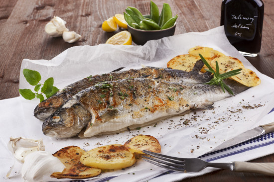 Grilled trouts.